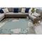 "Liora Manne Riviera Reef Border Indoor/Outdoor Rug Aqua 6'6""X9'3"""