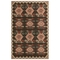 "Liora Manne Riviera Kilim Indoor/Outdoor Rug Black 6'6""X9'3"""