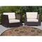 "Liora Manne Riviera Floral Vine Indoor/Outdoor Rug Tan 7'10"" Rd"