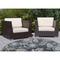 """Liora Manne Riviera Floral Vine Indoor/Outdoor Rug Navy 7'10"""" Rd"""