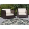 "Liora Manne Riviera Tropical Flower Indoor/Outdoor Rug Navy 7'10"" Rd"