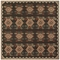 "Liora Manne Riviera Kilim Indoor/Outdoor Rug Black 7'10"" Sq"