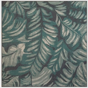"""Liora Manne Riviera Palm Indoor/Outdoor Rug Teal 7'10"""" Sq"""