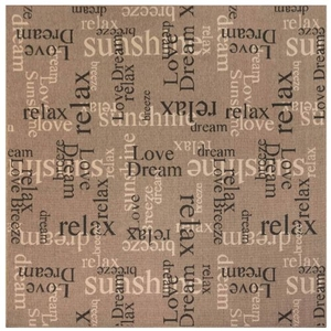 "Liora Manne Riviera Happy Words Indoor/Outdoor Rug Taupe 7'10"" Sq"