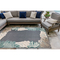 "Liora Manne Riviera Reef Border Indoor/Outdoor Rug Navy 7'10""X9'10"""