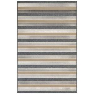 """Liora Manne Riviera Stripe Indoor/Outdoor Rug Navy 7'10""""X9'10"""""""