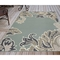 "Liora Manne Riviera Ornamental Leaf Indoor/Outdoor Rug Cool 7'10""X9'10"""