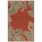 "Liora Manne Riviera Ornamental Leaf Indoor/Outdoor Rug Red 7'10""X9'10"""