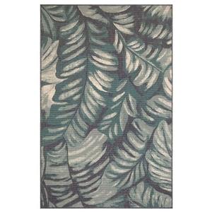 """Liora Manne Riviera Palm Indoor/Outdoor Rug Teal 7'10""""X9'10"""""""