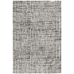 "Liora Manne Savannah Grid Indoor Rug Charcoal 8'3""X11'6"""