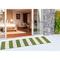 "Liora Manne Sorrento Rugby Stripe Indoor/Outdoor Rug Green 24""X8'"
