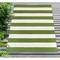 "Liora Manne Sorrento Rugby Stripe Indoor/Outdoor Rug Green 42""X66"""