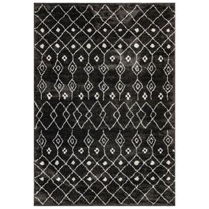 """Liora Manne Trek Tribal Indoor Rug Charcoal 23""""X7'6"""""""