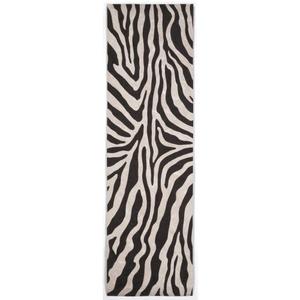 """Liora Manne Visions I Zebra Indoor/Outdoor Rug Black 27""""X8'"""