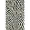 """Liora Manne Visions I Zebra Indoor/Outdoor Rug Black 42""""X66"""""""