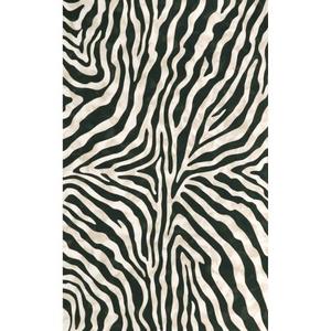 Liora Manne Visions I Zebra Indoor/Outdoor Rug Black 5'X8'