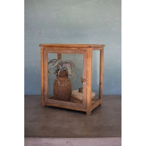 Wood And Glass Display Case - 18X12X21T