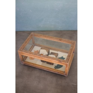 Wood And Glass Display Case - 19X11.75X8.75T