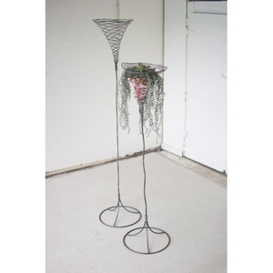 Tall Wild Wire Planters, Set of 2