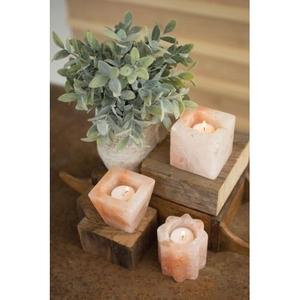 Himalayan Salt Tea Light Holders - One Each, Set of 3
