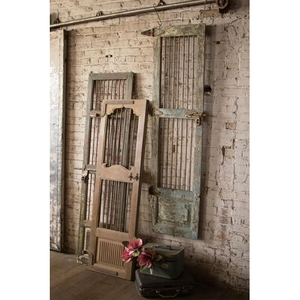 Wood And Iron Door Wall Hanging - Assorted Colors