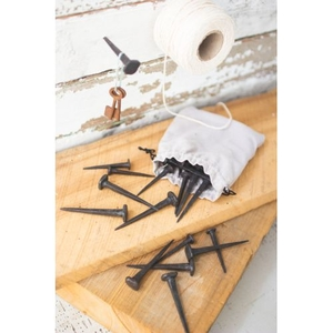 Bag Of 24 Hand Forged Nails - 12 Each Size