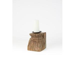 Repurposed Antique Wooden Column Candle Holder, Set of 2