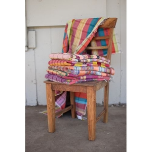 Assorted Recycled Cotton Throws, Set of 6