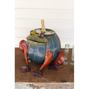 Recycled Iron Frog Cooler/Planter