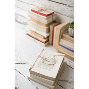 Repurposed Book Bundle - 4In - 5In Per Stack, Set of 6