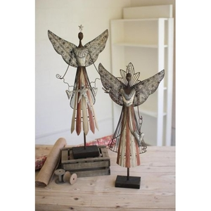 Galvanized Angels, Set of 2