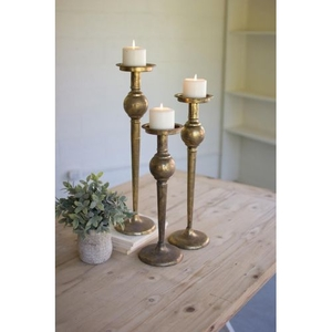 Metal Candle Stands, Set of 3