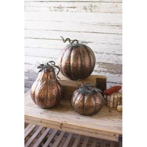 Metal Thanksgiving Pumpkins, Set of 3