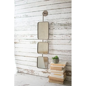 Triple Tilting Wall Mirrors