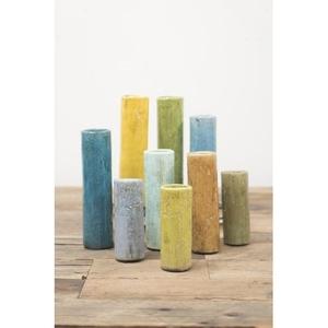 S Of 9 Multi Colored Ceramic Bud Vases
