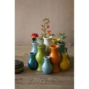 Multi-Colored Ceramic Vases, Set of 13