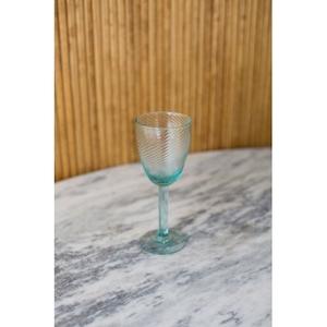 Recycled Wine Glass - Artisan Swirl, Set of 6