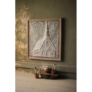 Wood Framed Pressed Metal Church - Large