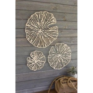 Hand Made Paper Discs Wall Art, Set of 3