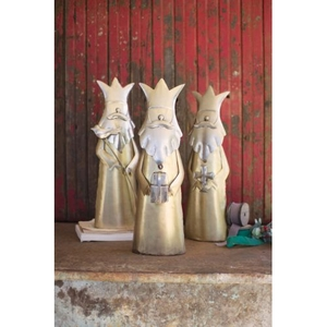 Nickel And Brass Finish Kings, Set of 3