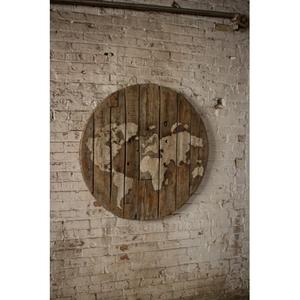 Repurposed Wooden Spool World Map