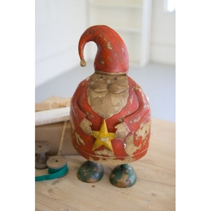 Painted Recycled Metal Santa