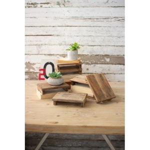 Repurposed Rectangle Wooden Riser, Set of 6