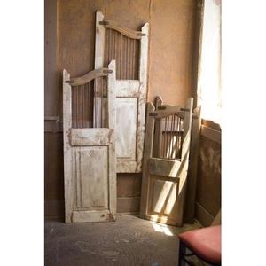 Repurposed Matching Wood And Iron Saloon Doors, Set of 2