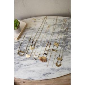 Antique Brass Pendants, Set of 6