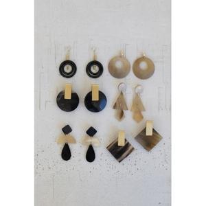 Assorted Horn Earrings, Set of 6