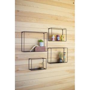 Wall Shelves - Black, Set of 4