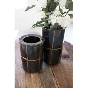 Metal Vases, Set of 2