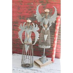 Metal Christmas Angels, Set of 2