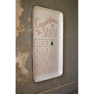 Enamelware - Countdown To Santa Tray